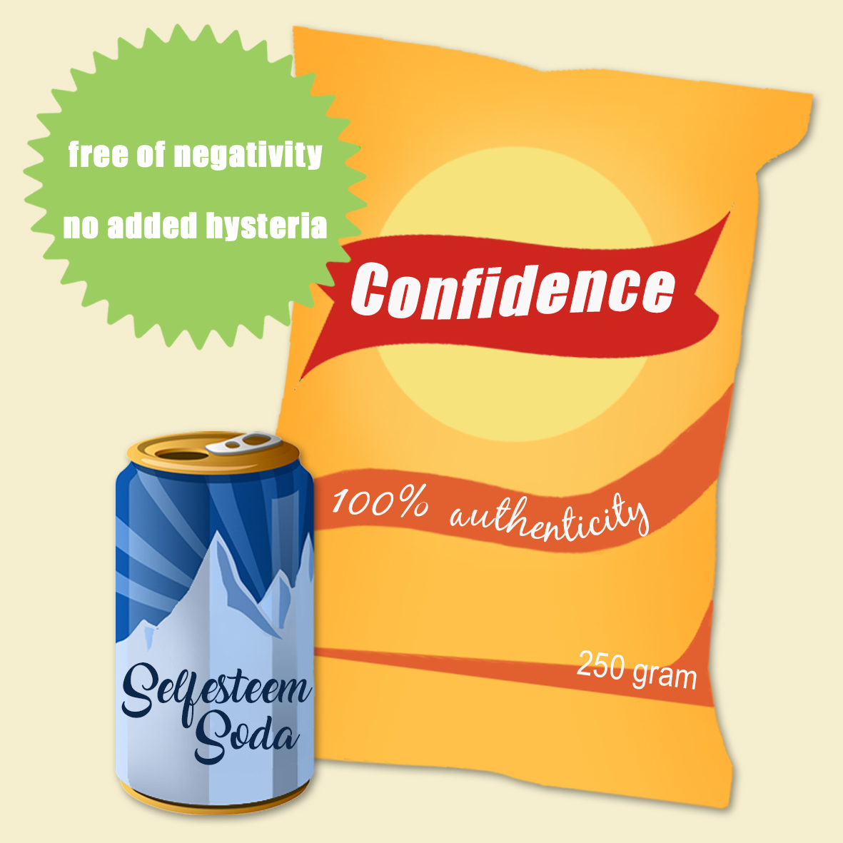 Confidence Chips: free of negativity