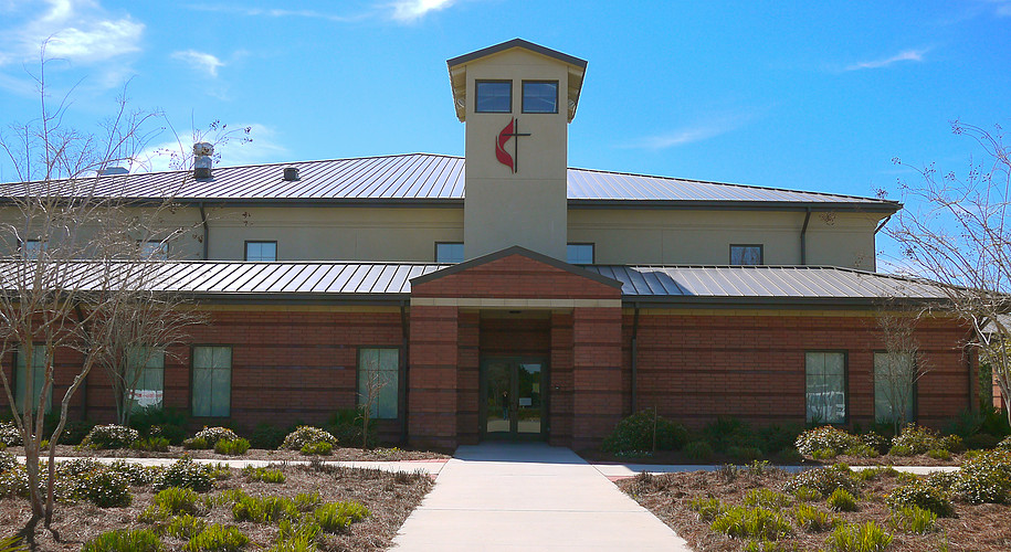 Main Building - This is our main building. It is where you will find the church office, Worship Center, Nursery, Preschool hallway, Cafe area, Kitchen, LRC (Learning and Recource Center) and Adult Classrooms.