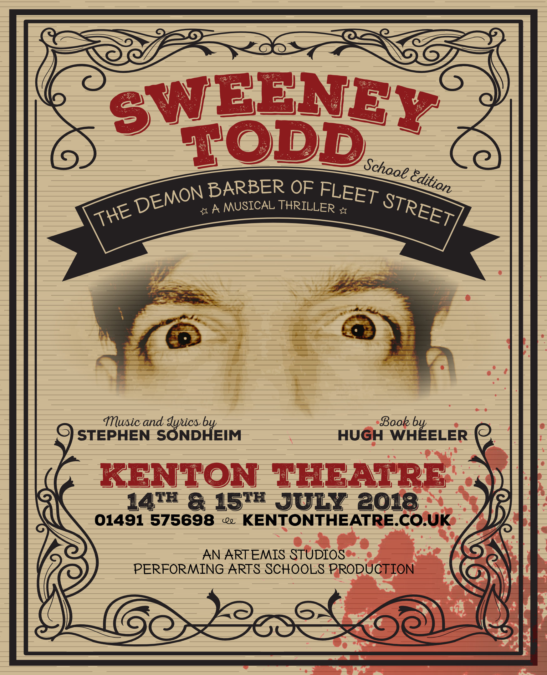 Sweeney Todd show poster