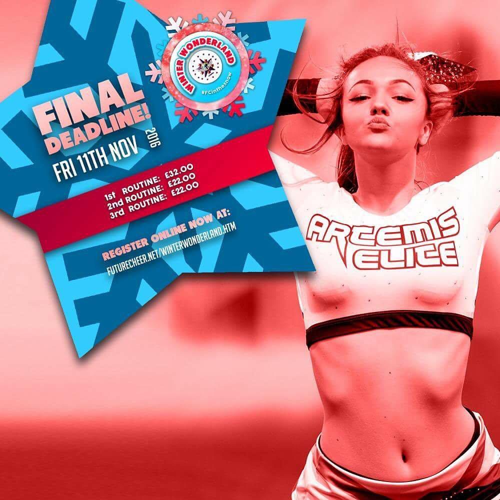 Sadie in Future Cheer marketing