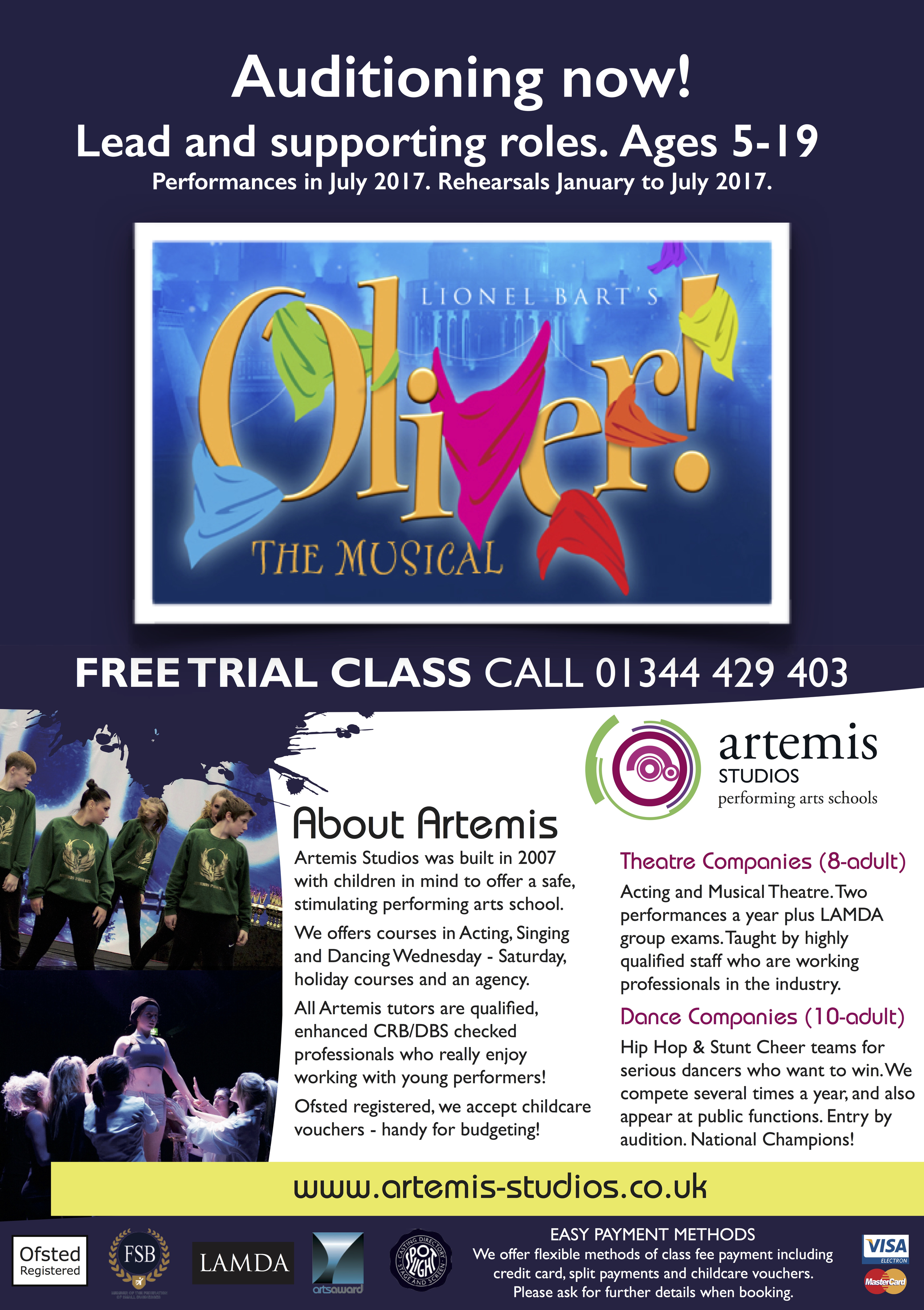 Olver auditions flyer