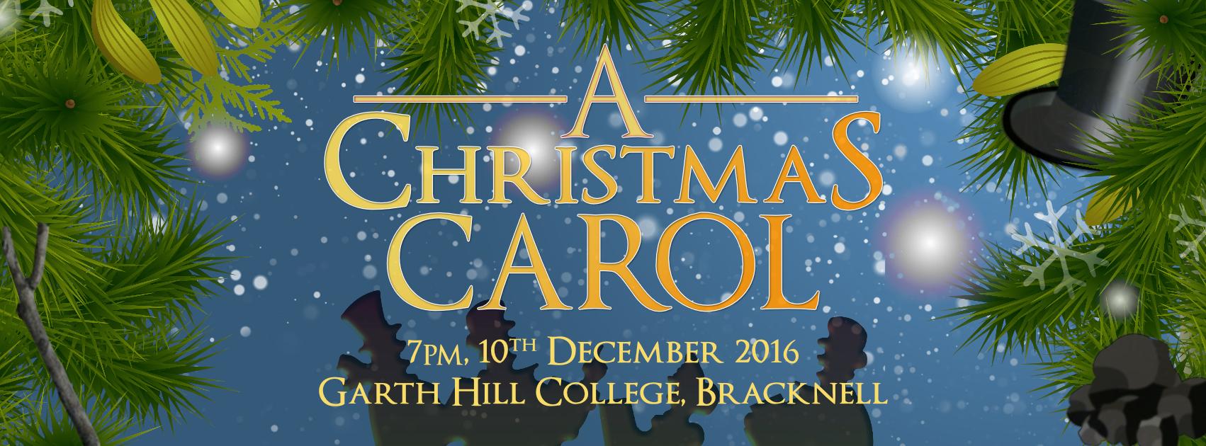 A Christmas Carol show banner