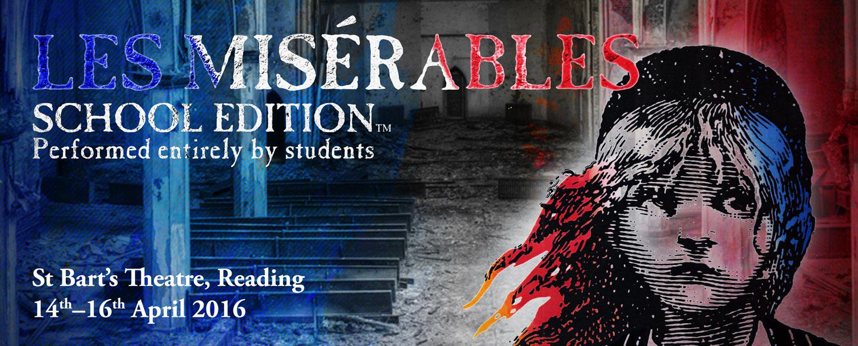 Les Miserable show banner