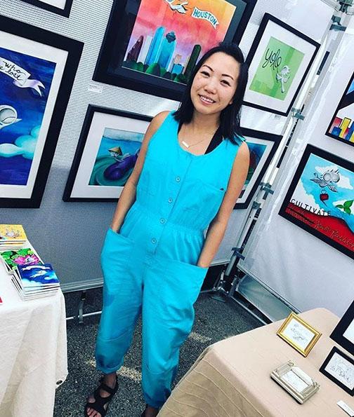 Caroline Truong at First Saturday Art Market