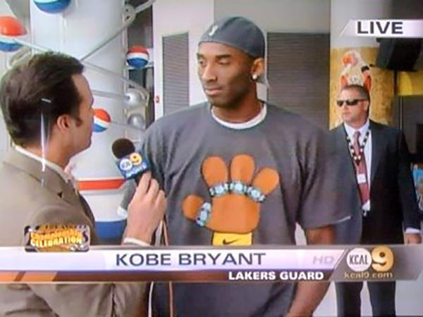 Finsta/Nike shirt for Kobe Bryant winning his 4th championship ring.