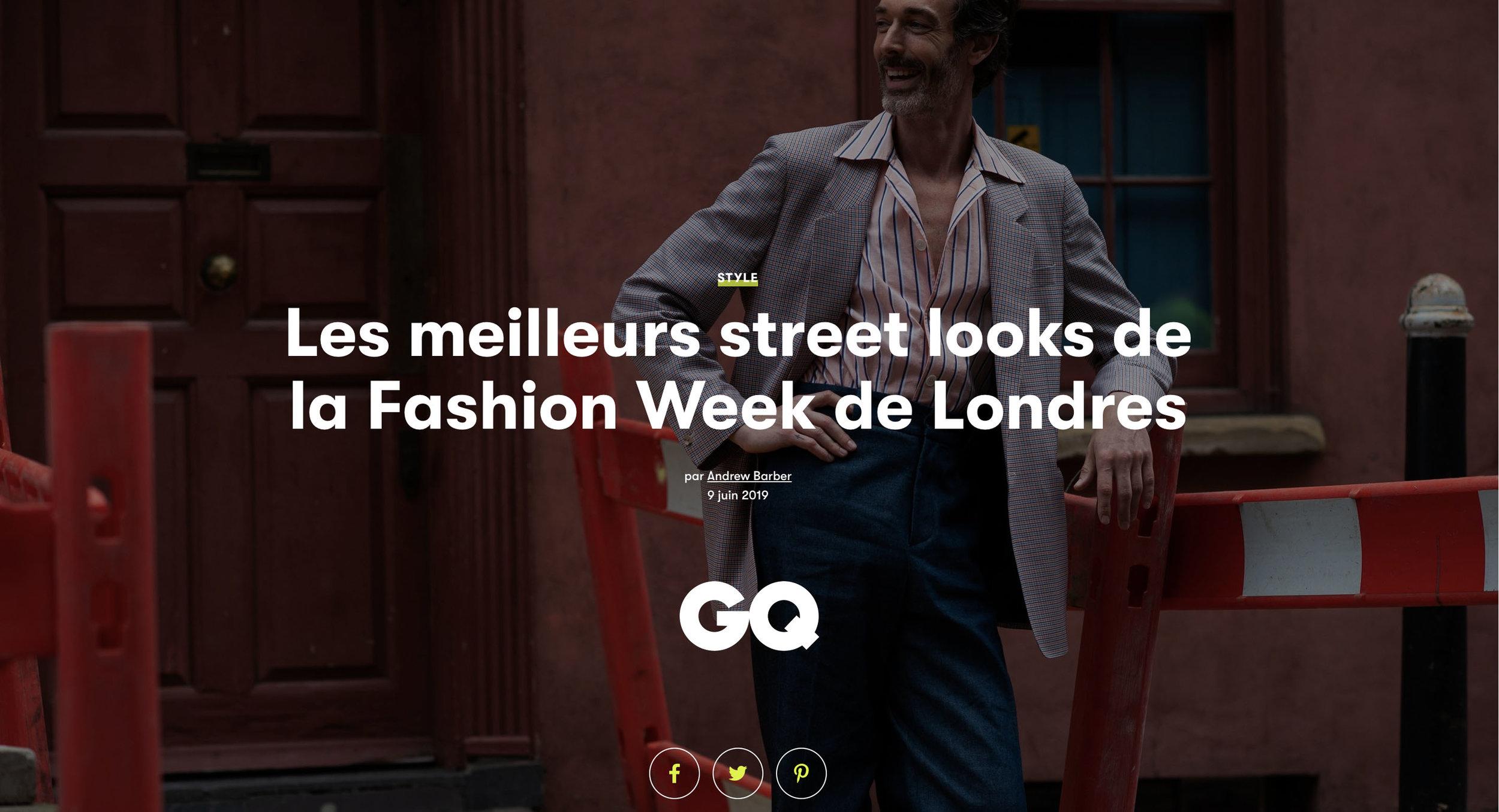 GQ FRANCE: London Fashion Week Men's
