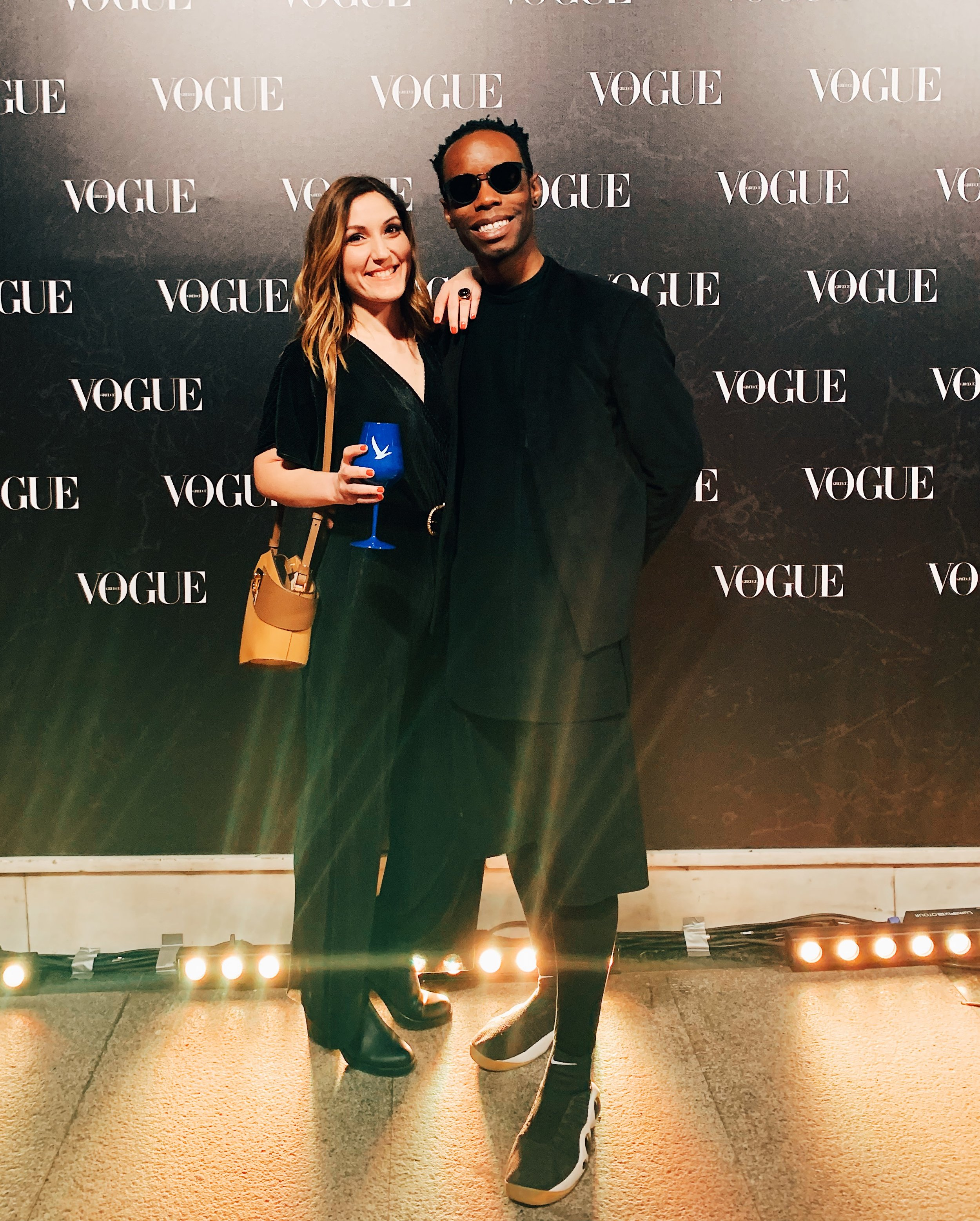 Dimitra Koutsi and Myself at the Vogue Greece Launch Event
