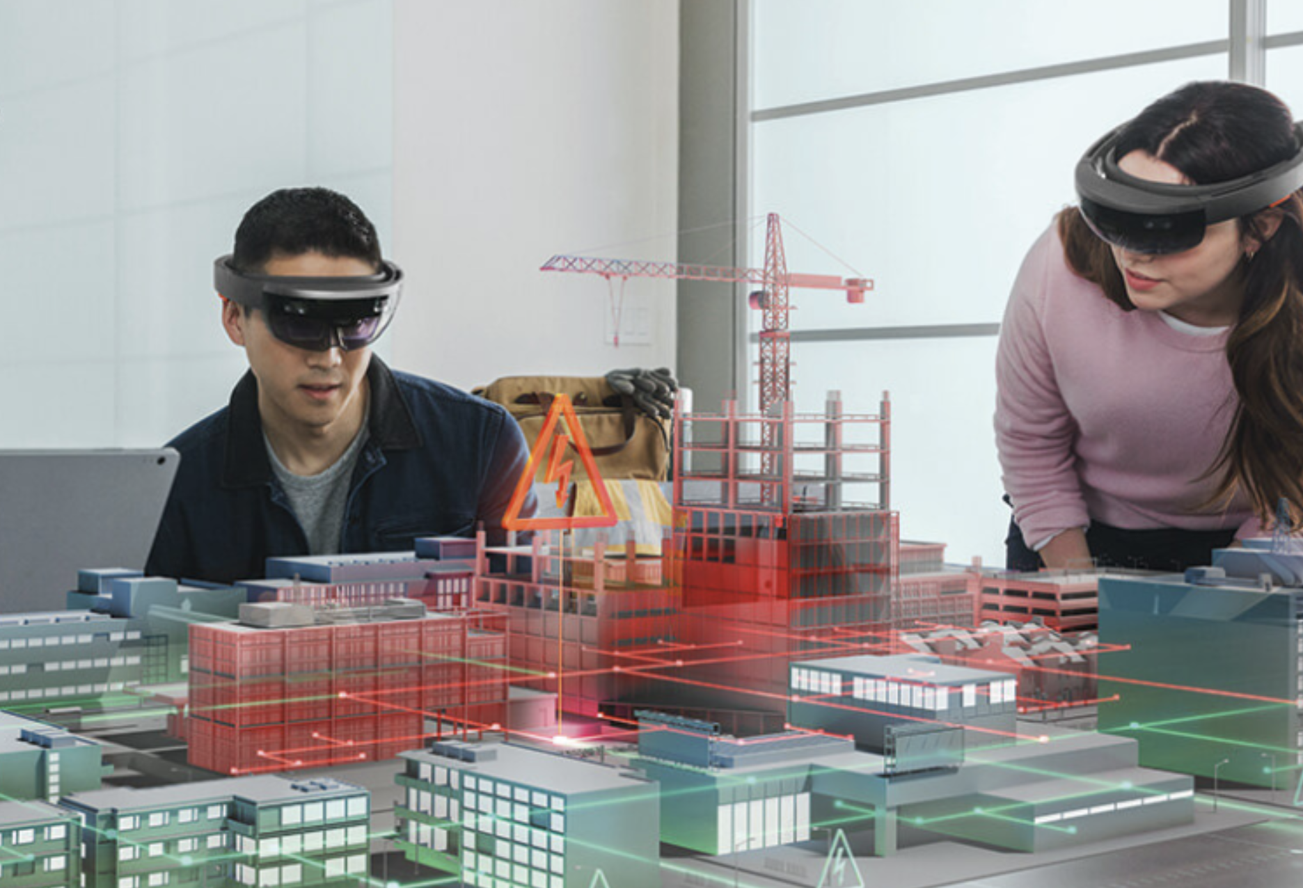 Collaboration - Imagine an AR version of Skype or Zoom through a pair of AR glasses. Our 95% transparency enables natural eye contact, and our wide field of vision enables viewing of content and annotations at arm's range.