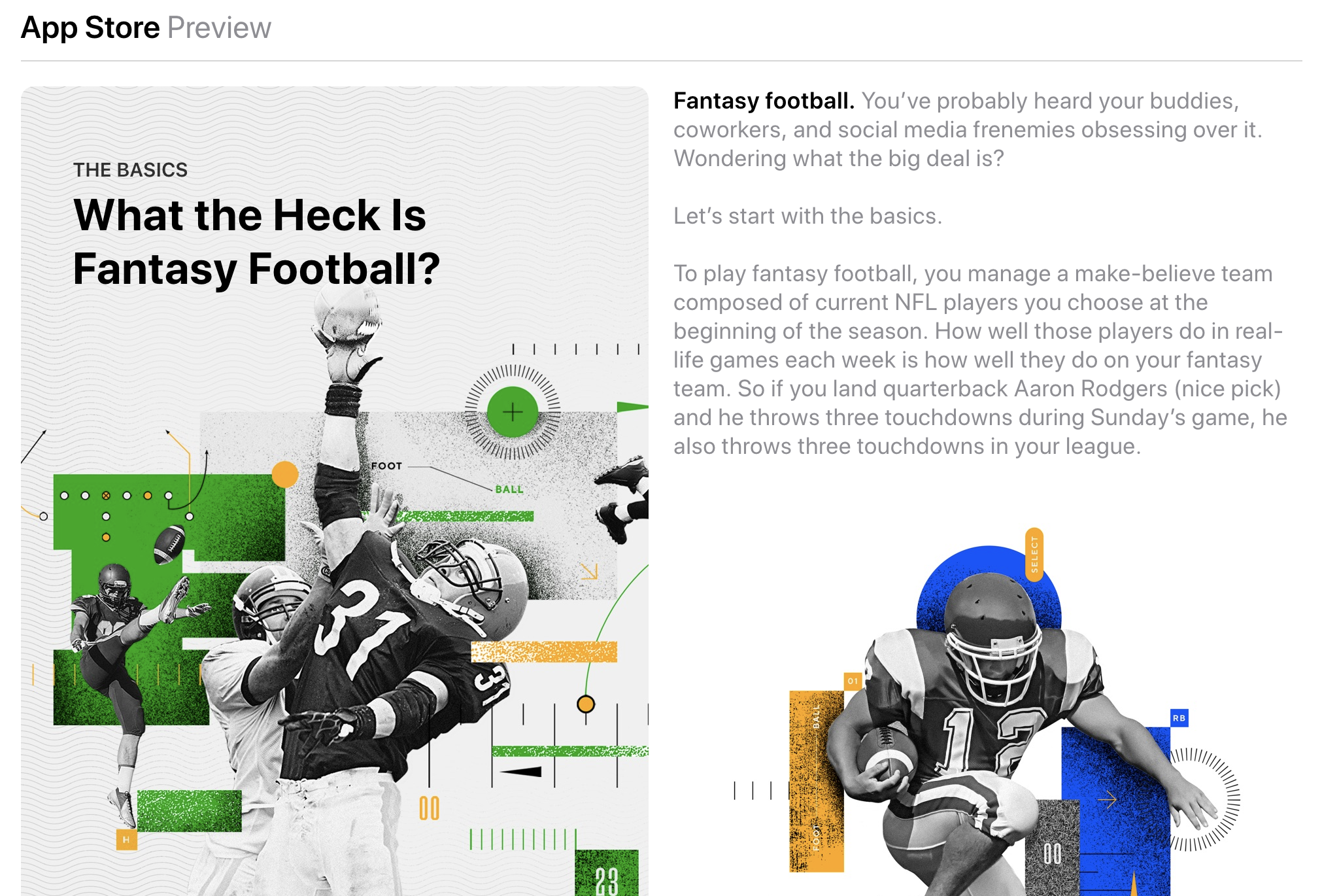 """""""What the Heck Is Fantasy Football? Apps for a Competitive Edge"""" — App Store - Read More."""