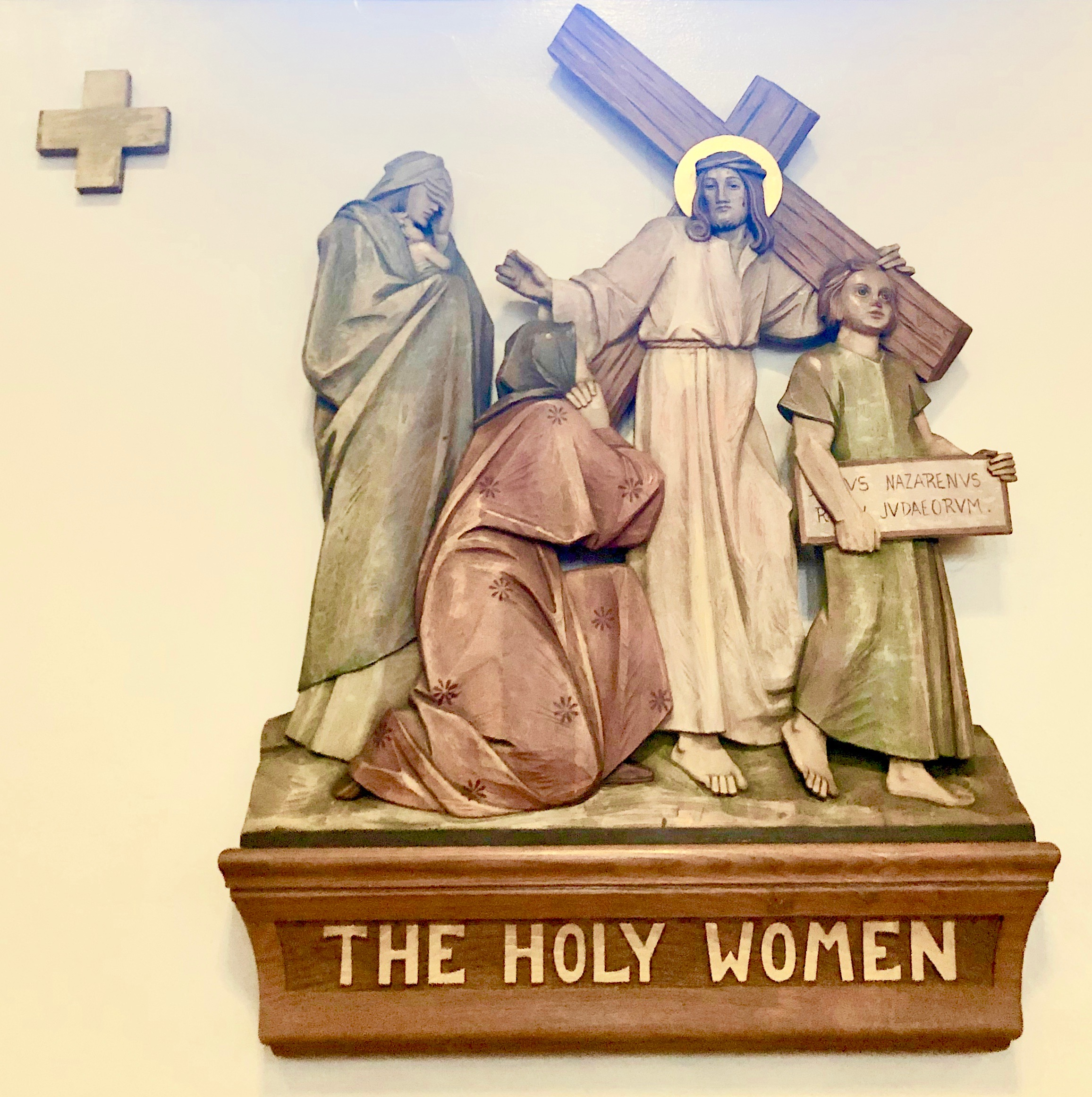 Wood Stations of the Cross The Holy Woman, Our Lady of Refuge Catholic Church, Castroville, California, Lanzini.jpeg