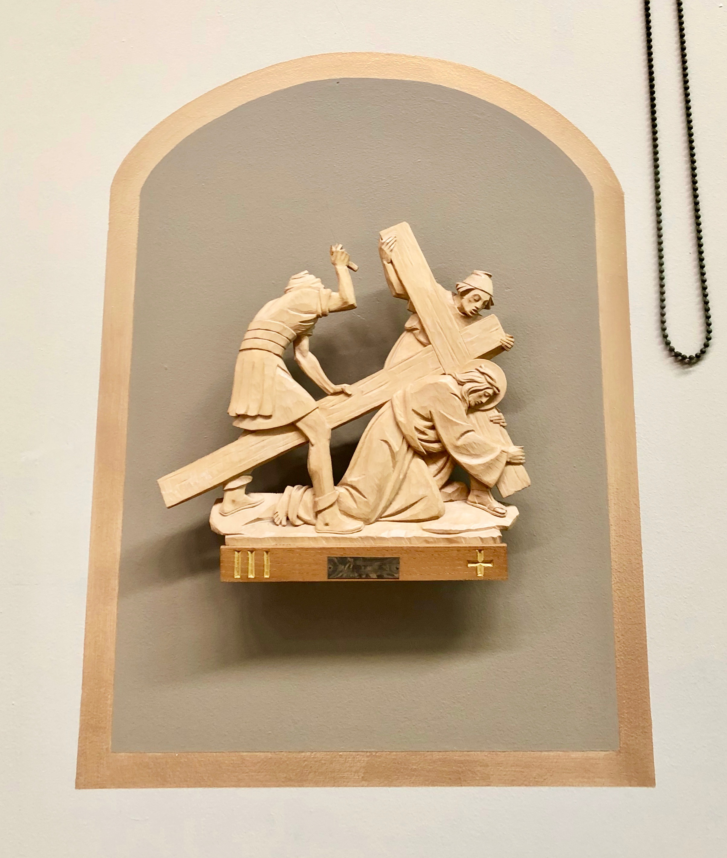 Wooden Station of the Cross, Jesus Cruifixion, St Joseph's Catholic Church, Capitola, California, Lanzini.jpeg