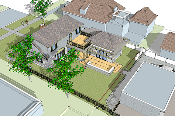 3-D Model of House with Addition