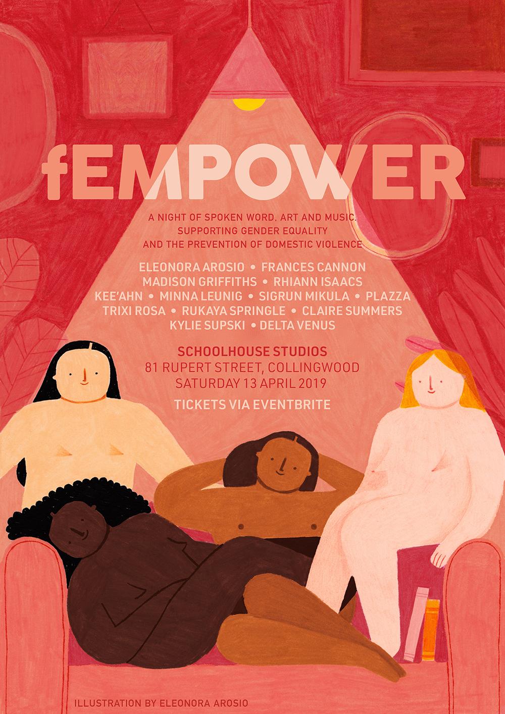 Fempower Event Poster, 2019