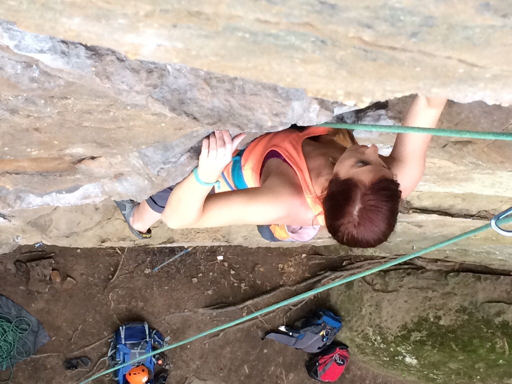 Climbing in Red River Gorge, KY
