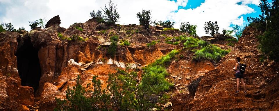 Hiking in Palo Duro Canyon State Park, Texas