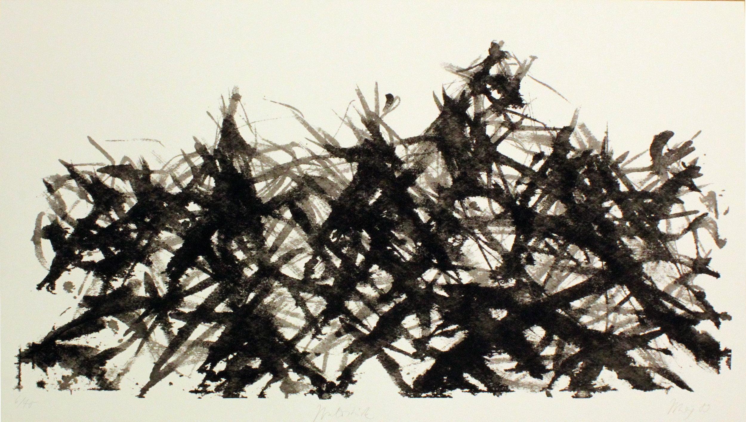 """""""Waldstück"""" Serigraphie, 122x70 cm, 1989"""