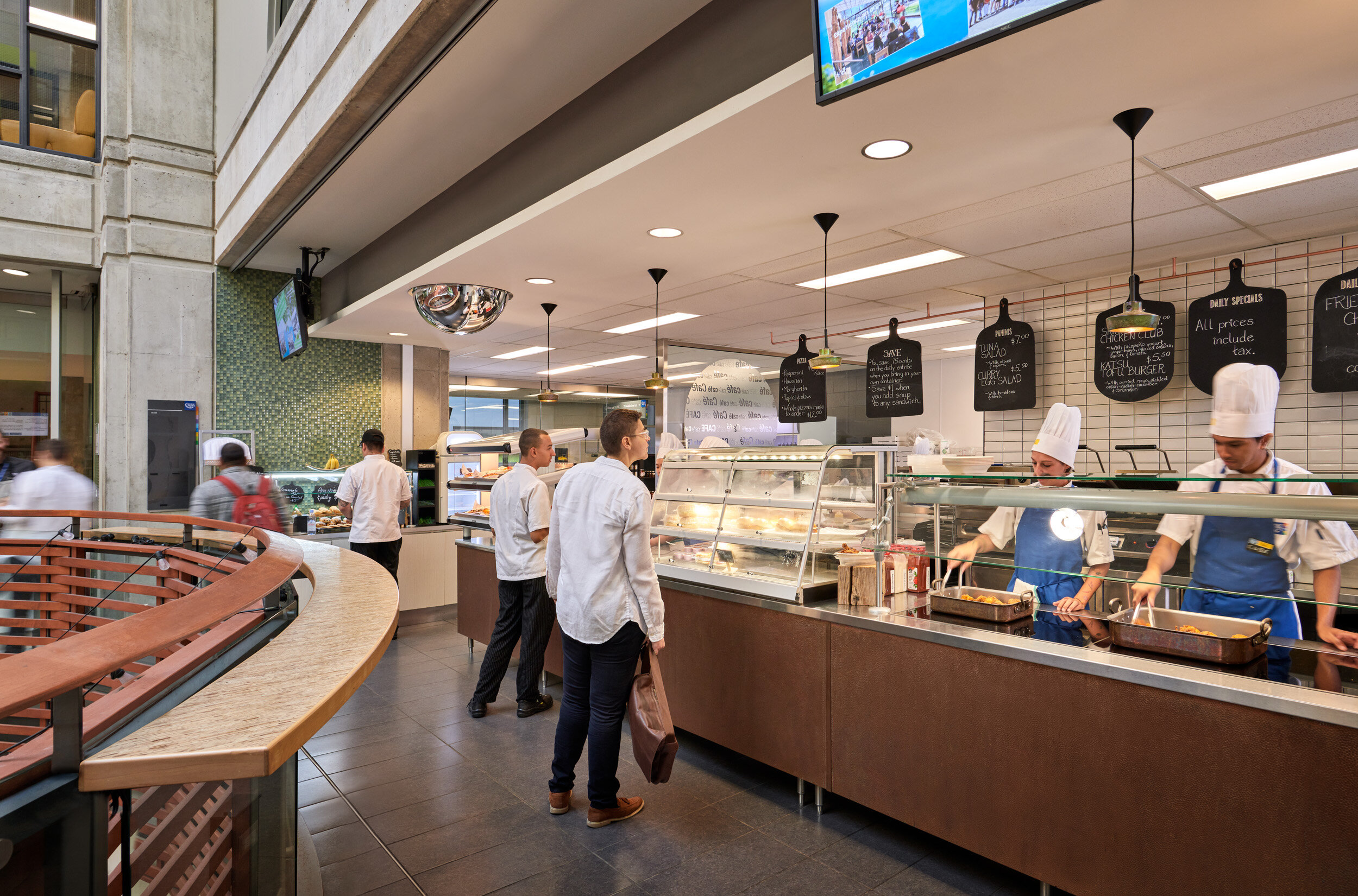 Customers browse options in the Café at The Centre for Hospitality & Culinary Arts, George Brown College, Toronto