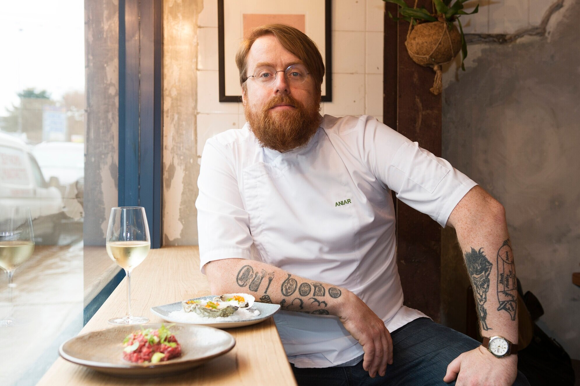 Michelin Star Irish Chef JP McMahon who visited George Brown College in March 2019 as a guest of the Centre for Hospitality & Culinary Arts