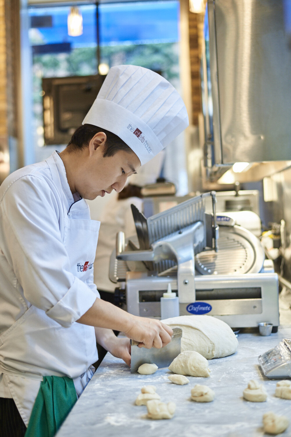Culinary students work in the Restaurant and Café's state-of-the-art kitchens, creating delicious food for guests