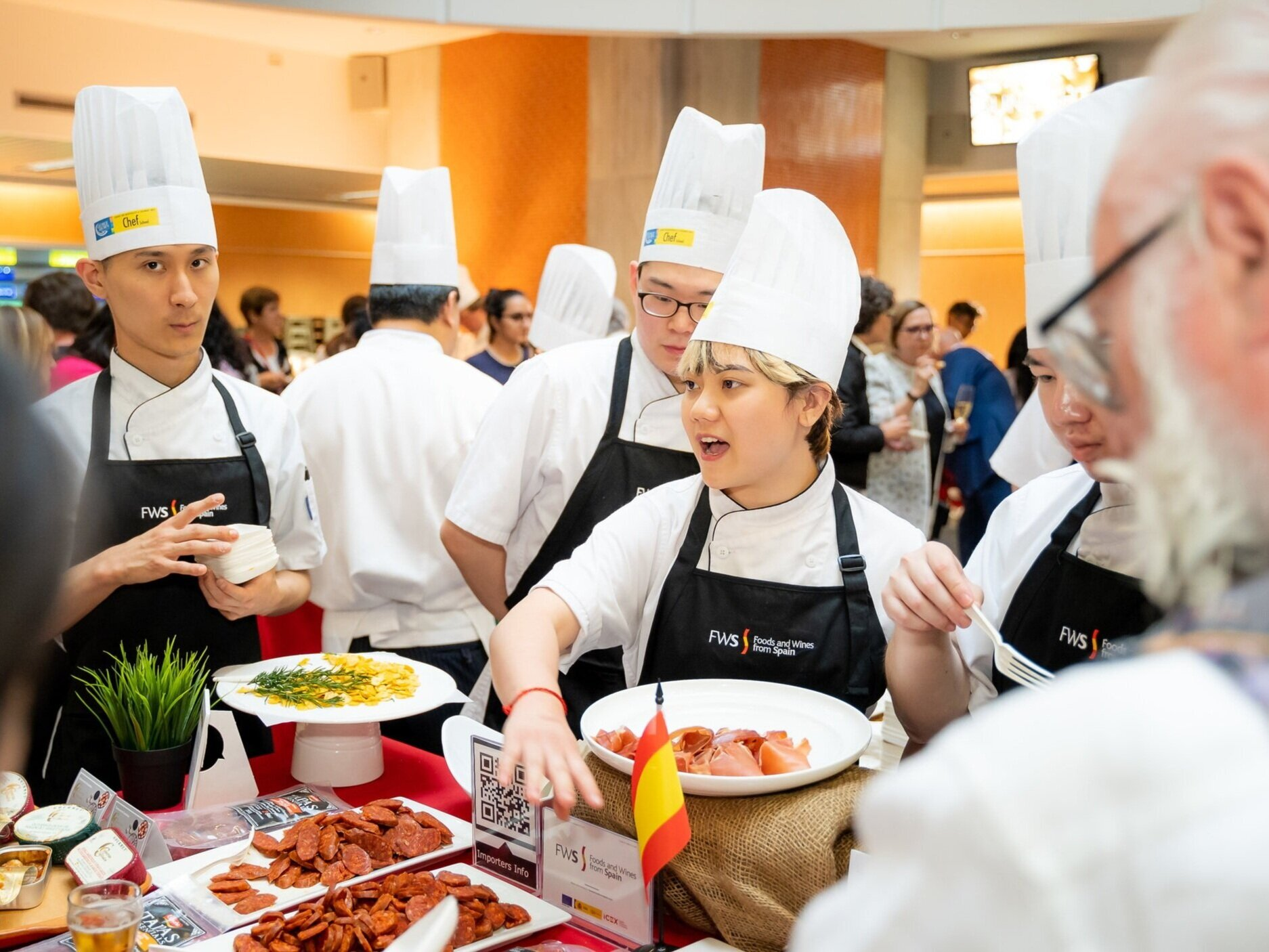 George Brown College Culinary Arts students hosting the World Tapas Day food & drink marketplace festival