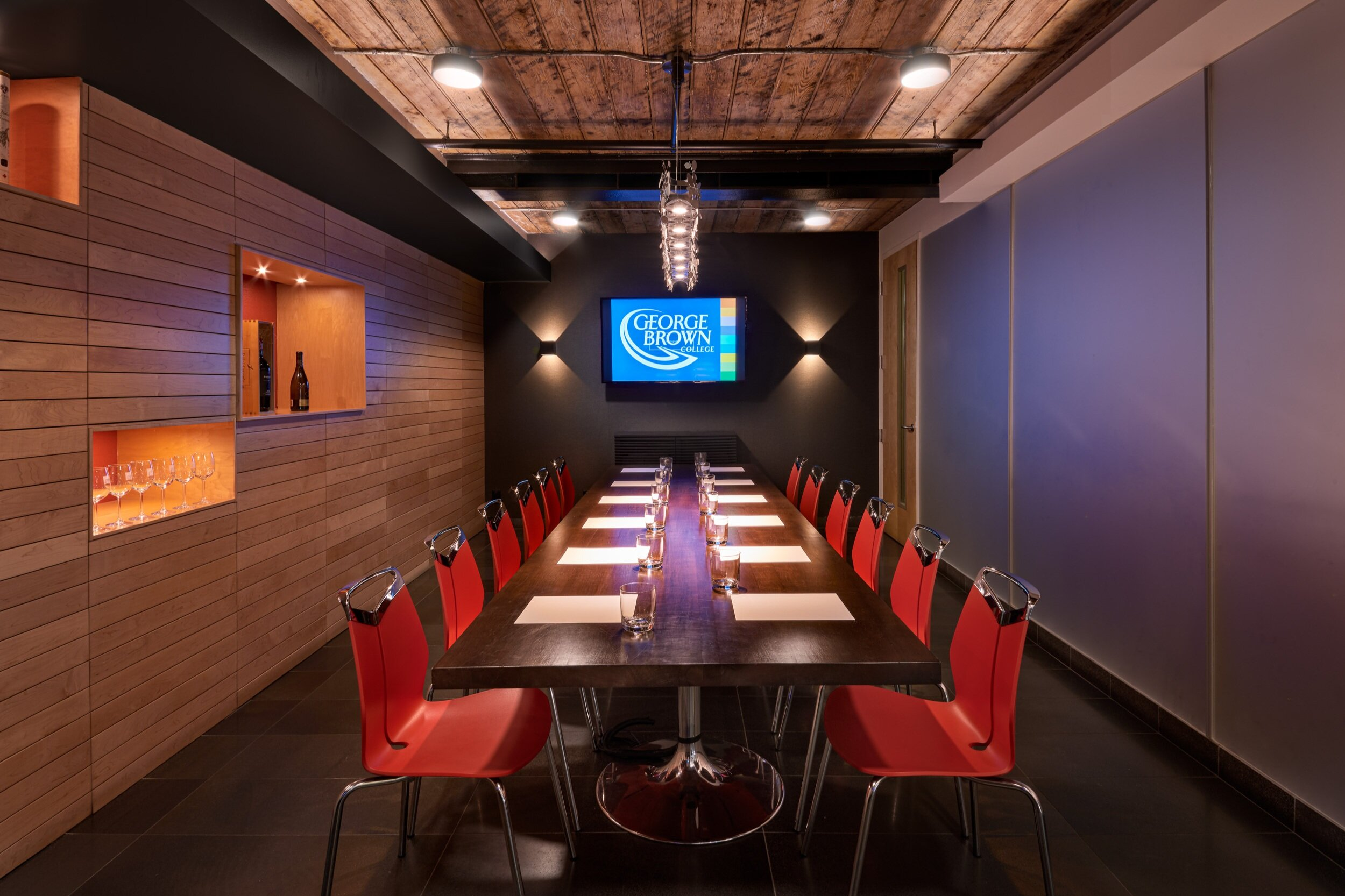 The Private Dining and Conference Room at the Centre for Hospitality & Culinary Arts at George Brown College