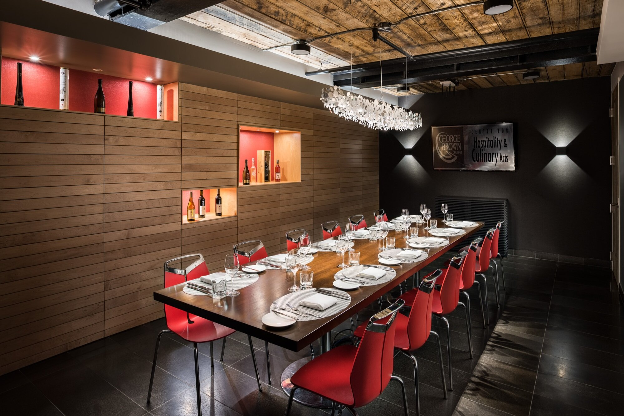 The Private Dining Room at The Restaurant at The Centre for Hospitality & Culinary Arts at George Brown College