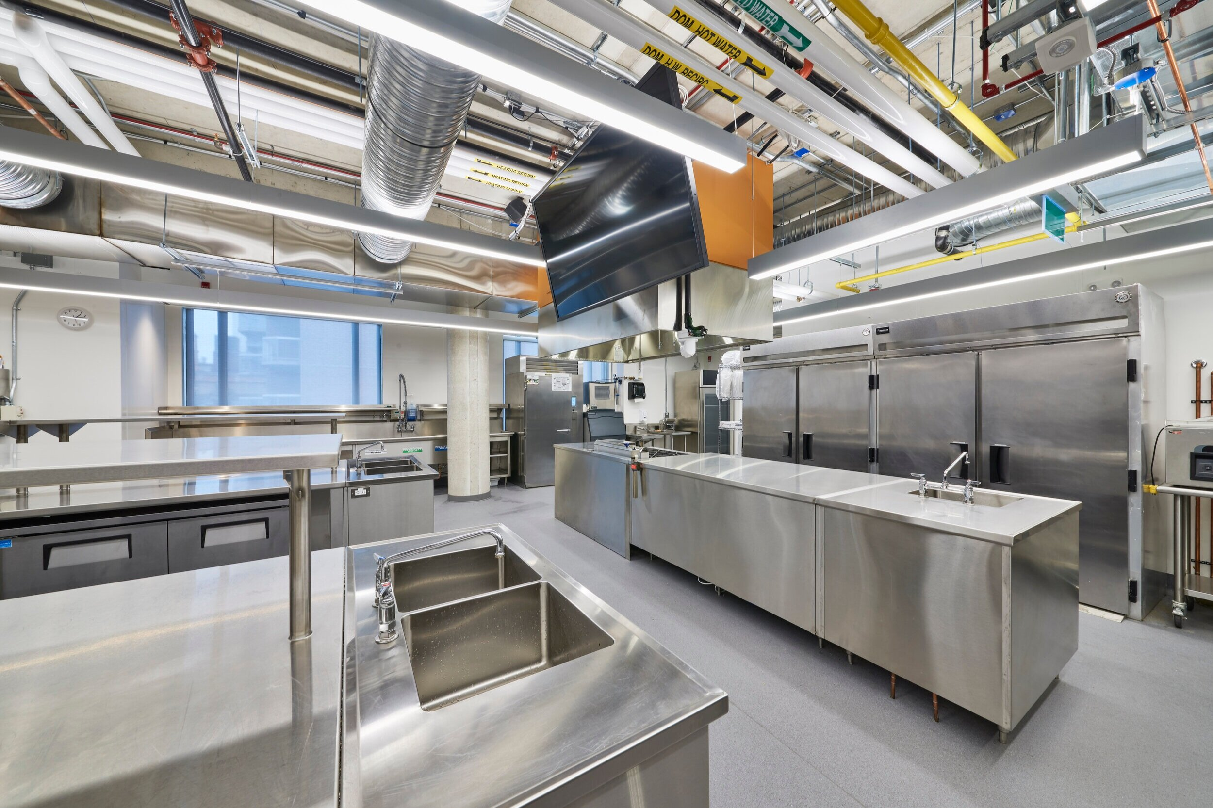 Fourth alternate view of a Culinary Kitchen Lab at the Centre for Hospitality & Culinary Arts at George Brown College