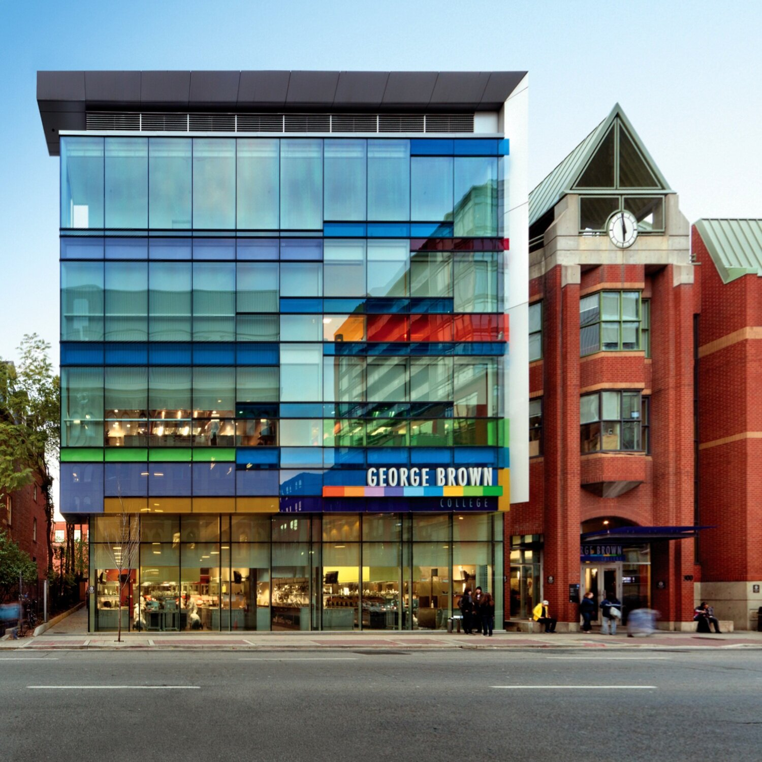 The Centre for Hospitality & Culinary Arts building at 300 Adelaide Street East, George Brown College, Toronto