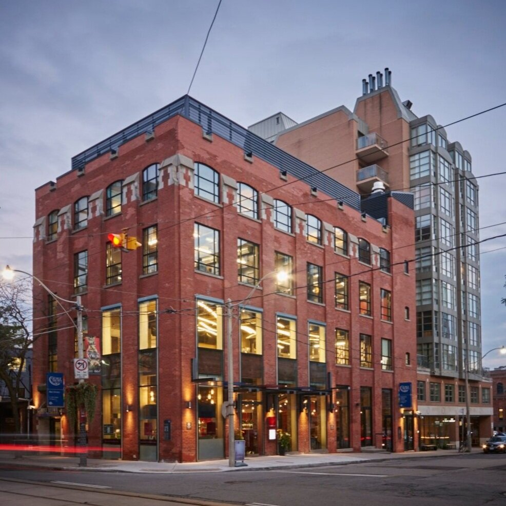 The Centre for Hospitality & Culinary Arts building at 215 King Street East, George Brown College, Toronto