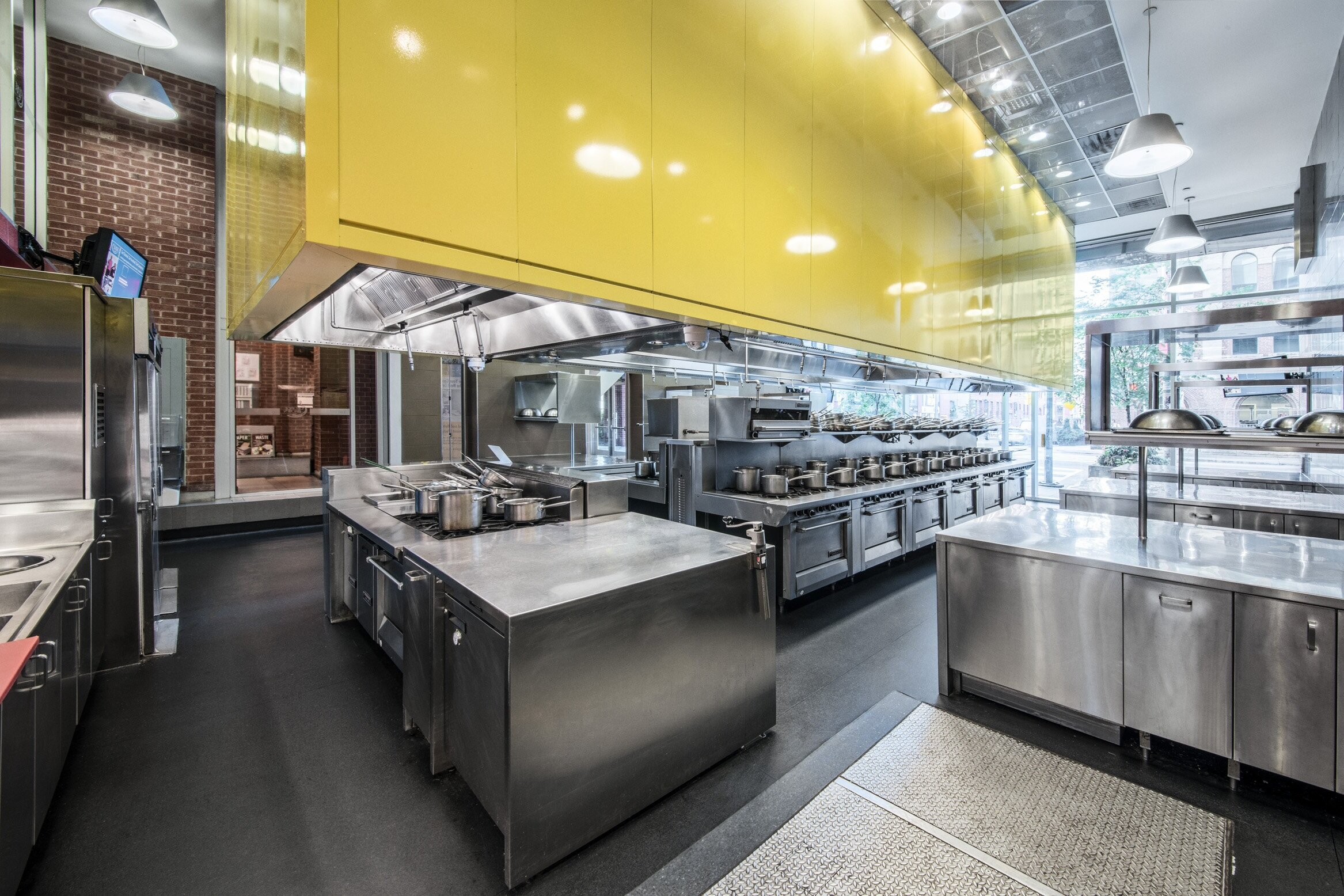 Second alternate view of a Culinary Kitchen Lab at the Centre for Hospitality & Culinary Arts at George Brown College