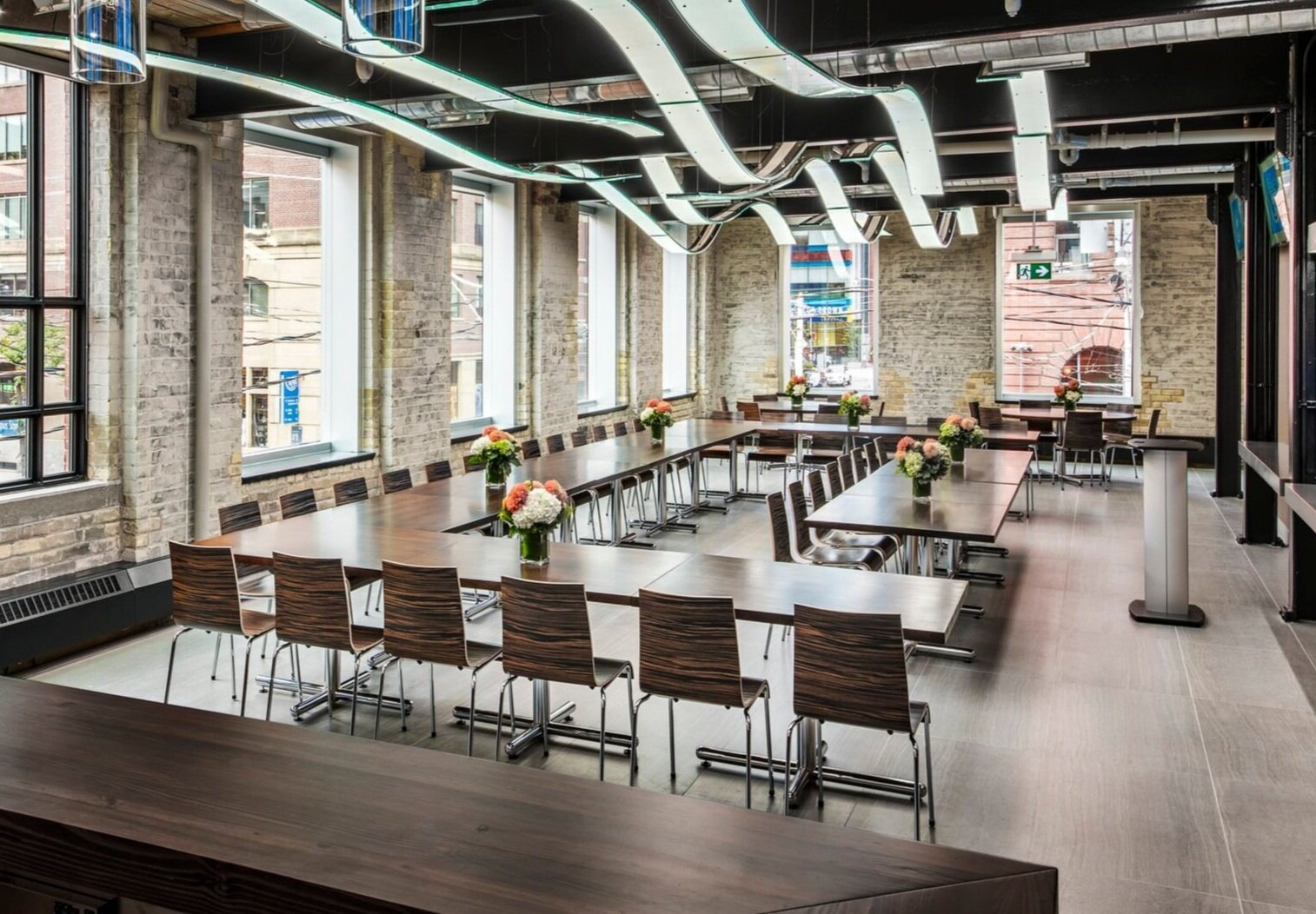 The Event Space at 215 King Street East, Toronto - one of the facilities at the Centre for Hospitality & Culinary Arts at George Brown College
