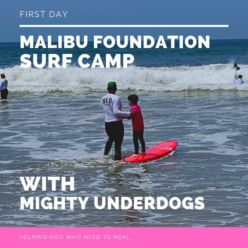 First Day of Mighty Underdogs Surf Camp - July 1stOur surf camp with Mighty Underdogs had its first week and it went even better than expected. Our free surf camp for kids affected by the fire found an opportunity to get a sense of healing and accomplishment. It's been incredible watching the instructors work with these kids and seeing the learning that is happening both from our instructors and our campers. Sorry, all spots sold out!Please register for other camps below.