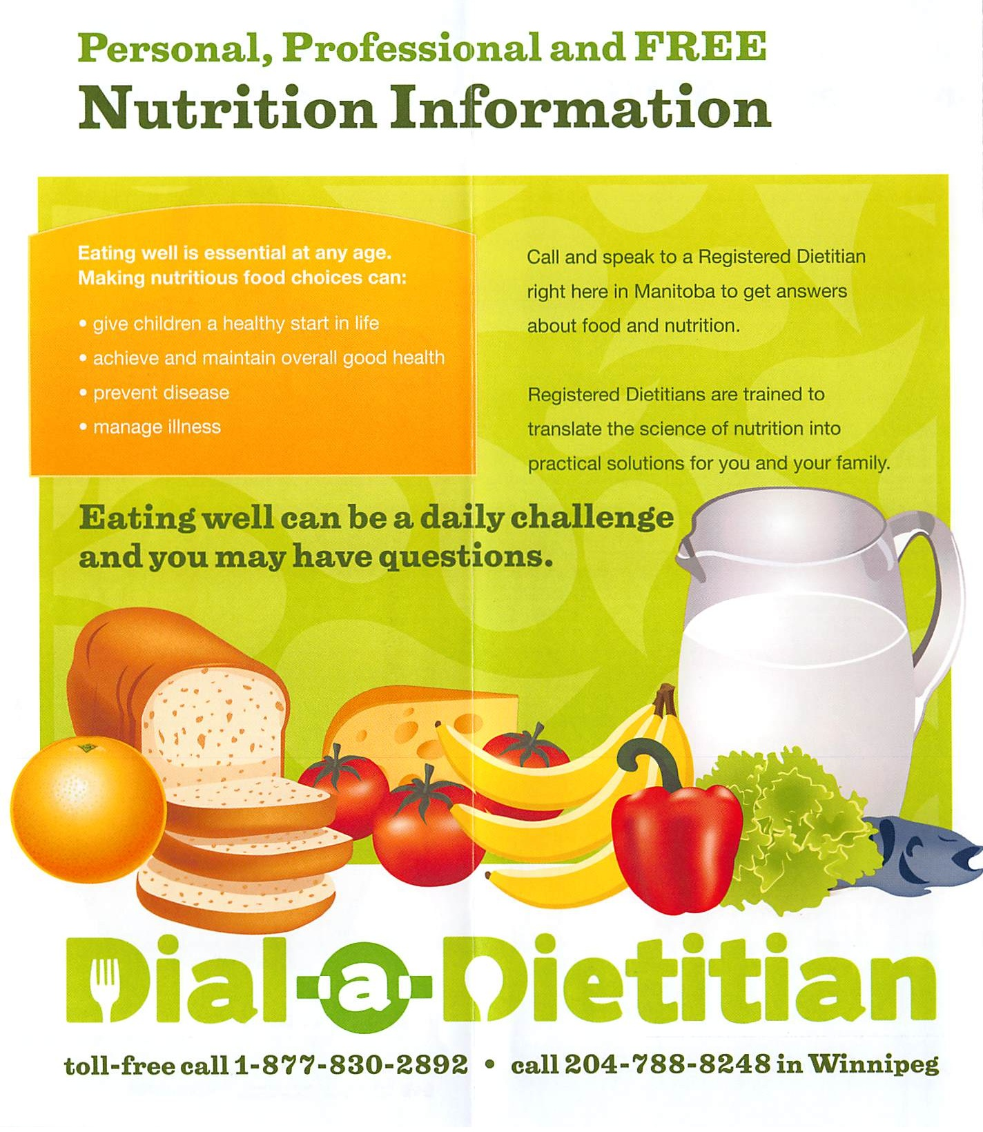 Dial-a-Dietitian - FREE Nutritional Information