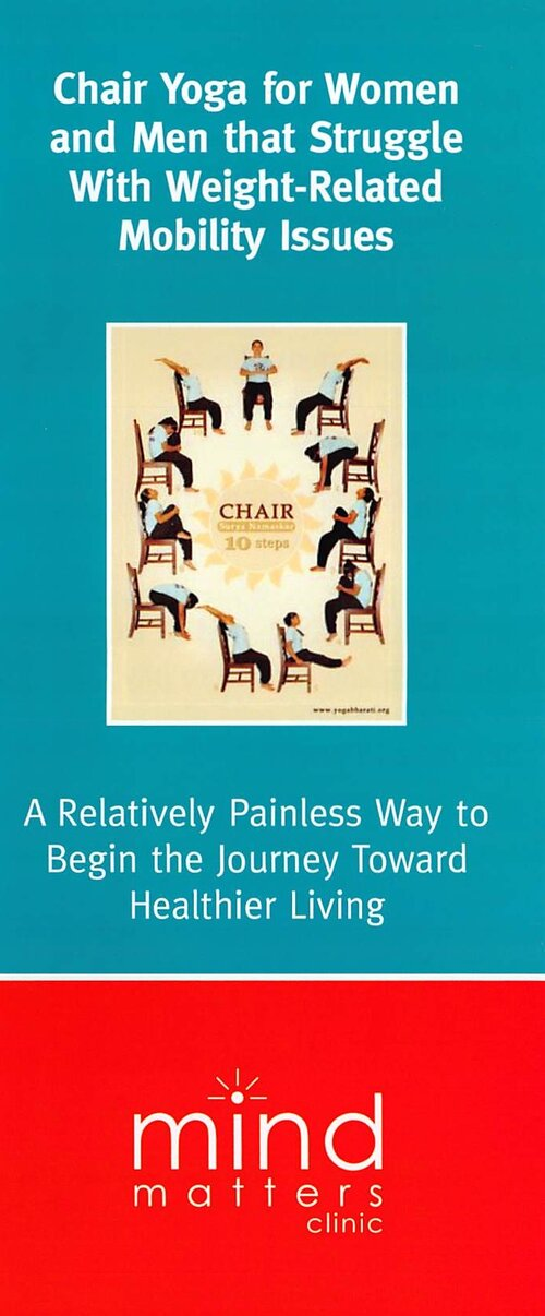 For more information visit their website or grab a pamphlet from the clinic - https://www.mindmattersclinic.ca/therapy-groups#chair