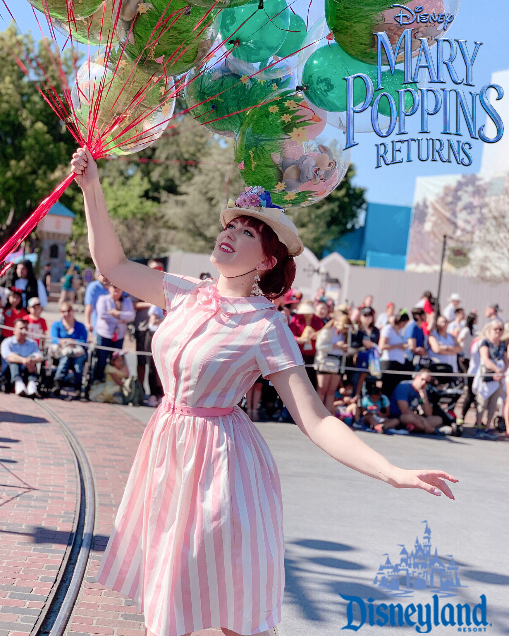 "Disneyland Mary Poppins Influencer day in anticipation of the DVD release of ""Mary Poppins Returns"""