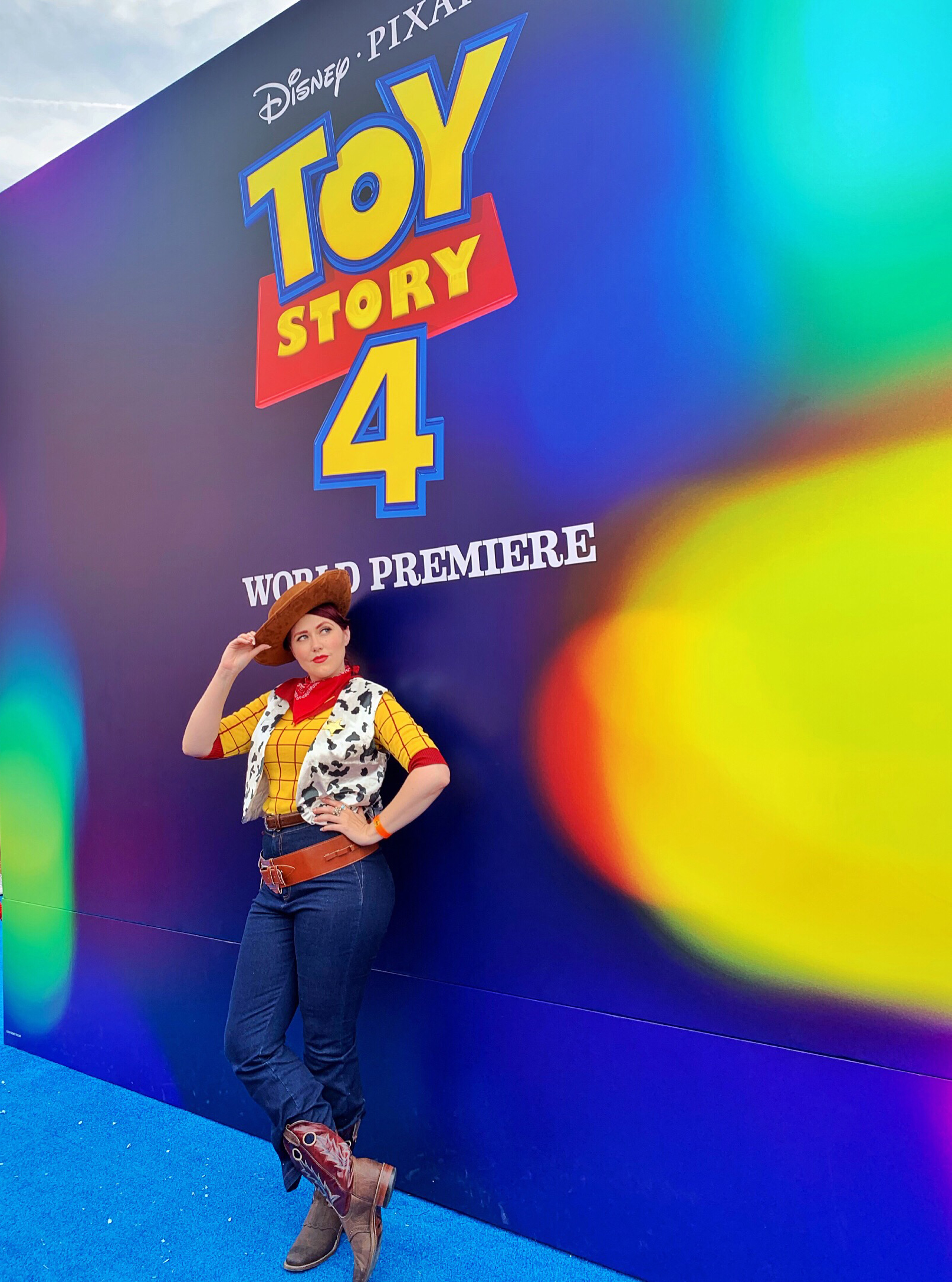 Toy Story 4 Premiere and Red Carpet. Outfit in collaboration with Elhoffer Design and Unique Vintage
