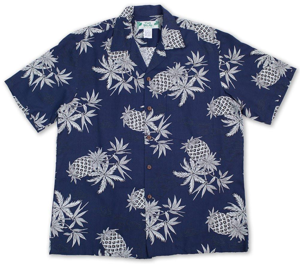 Pineapple Map Navy