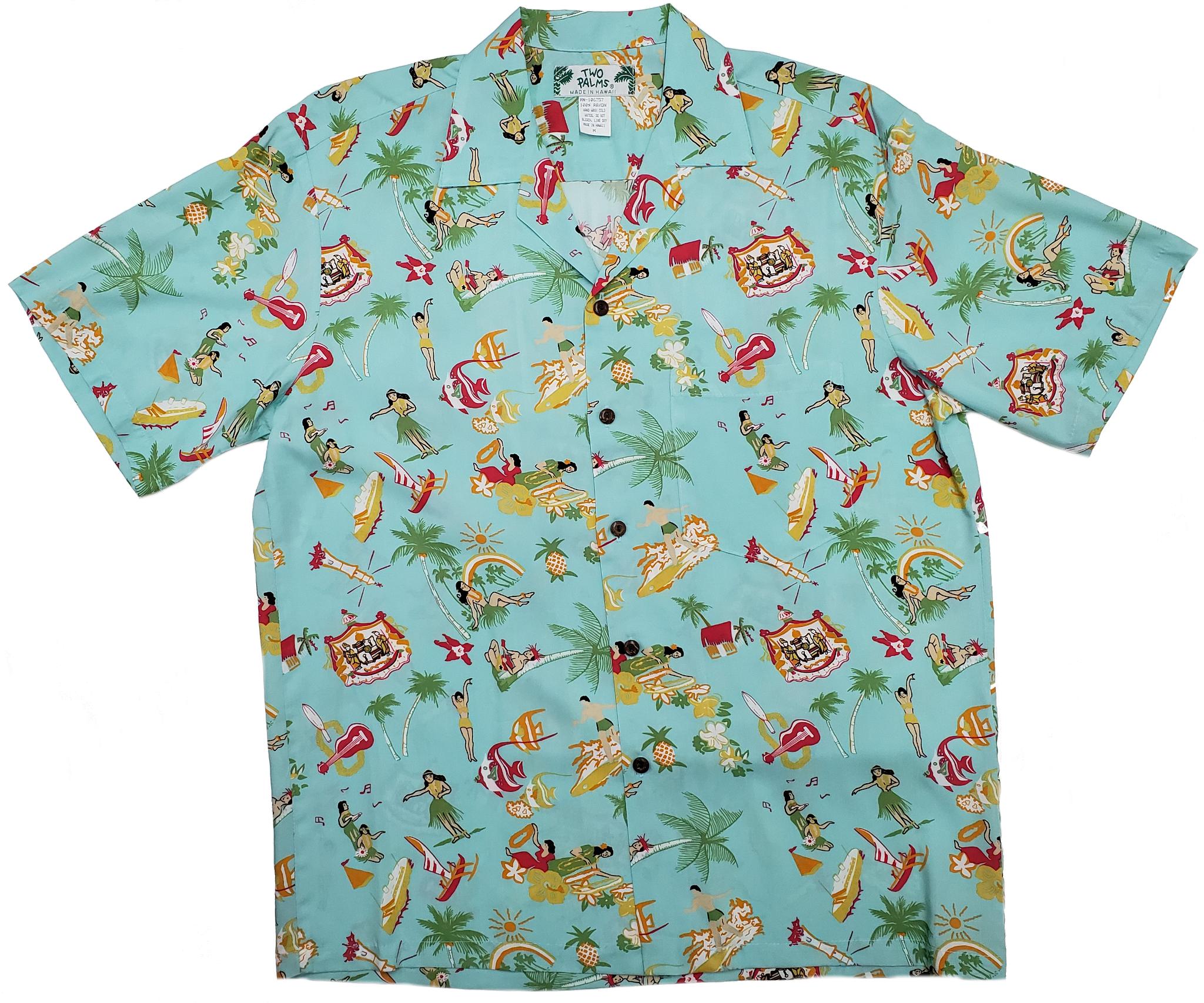 Vintage Aloha Aqua