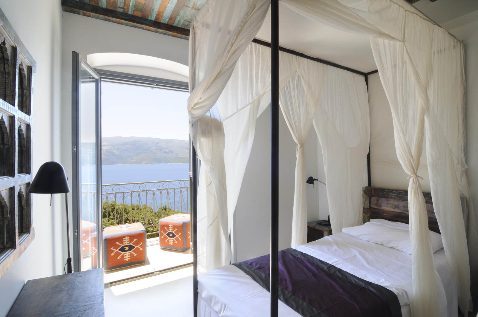 7 nights accommodation - in our stunningly beautiful, luxurious Greek villa and elegant yurts built into the hills with views of the Ionian sea.
