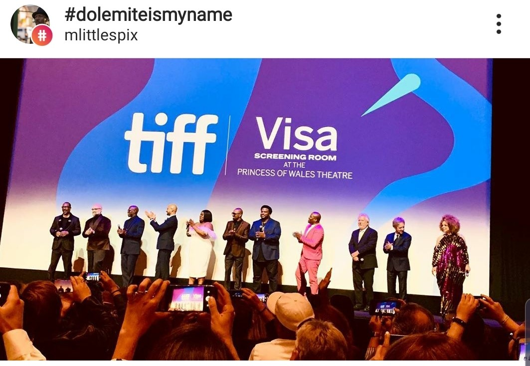 During the Q&A after the screening, the crowd cheered for the film and it's cast and crew. L-R: Eddie Murphy, Director Craig Brewer, Wesley Sniped, Keegan-Michael Key, Da'Vine Joy Randolph, Mike Epps, Craig Robinson, Titus Burgess, screenwriters Larry Karaszewski and Scott Alexander, and customer designer Ruth Carter.