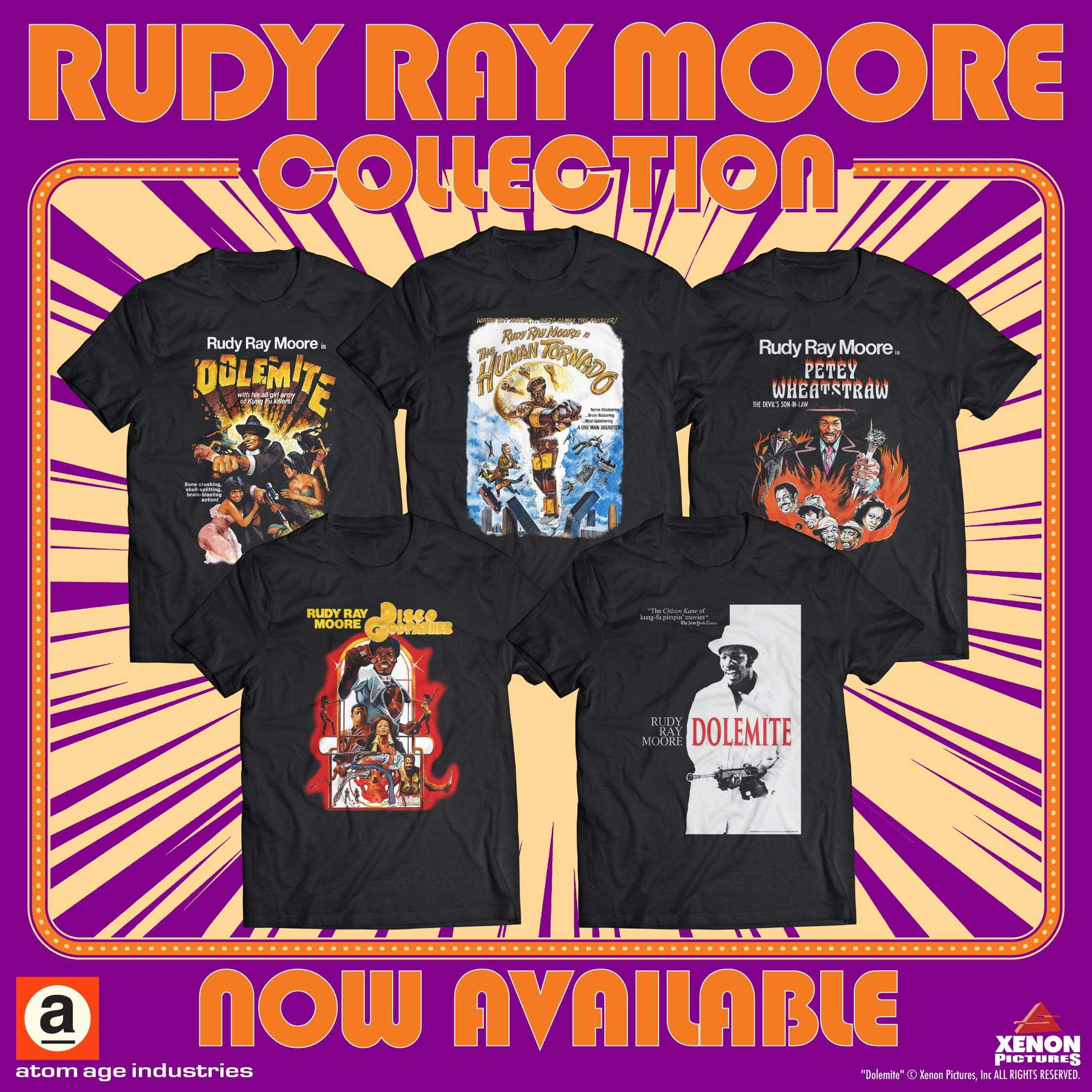 The official Rudy Ray Moore t-shirt collection!