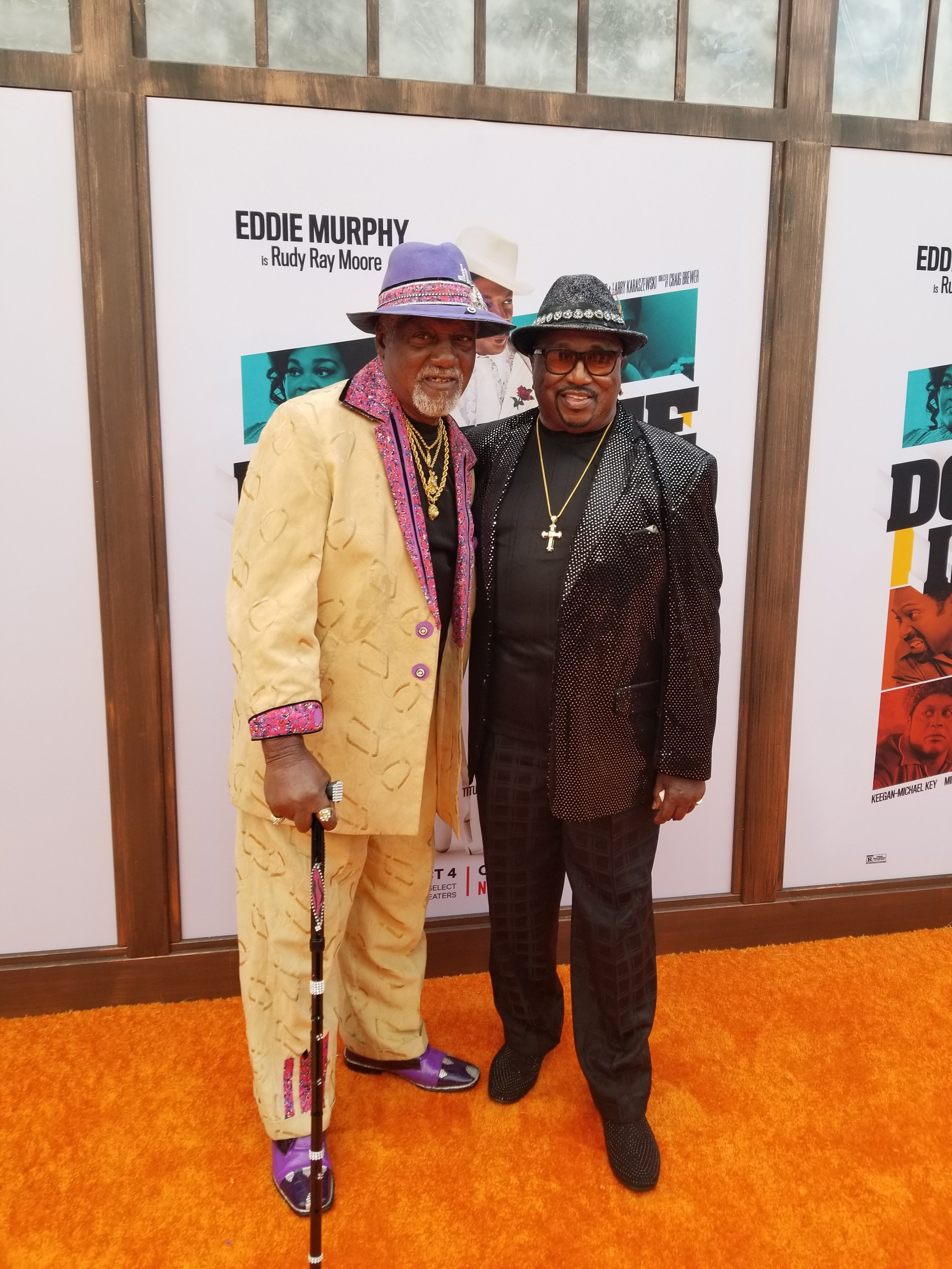 "Jimmy ""Mr. Motion / Funky Tramp"" Lynch (portrayed by Mike Epps) and Ben Taylor (portrayed by Craig Robinson), the only remaining members of Rudy Ray Moore's original crew!"