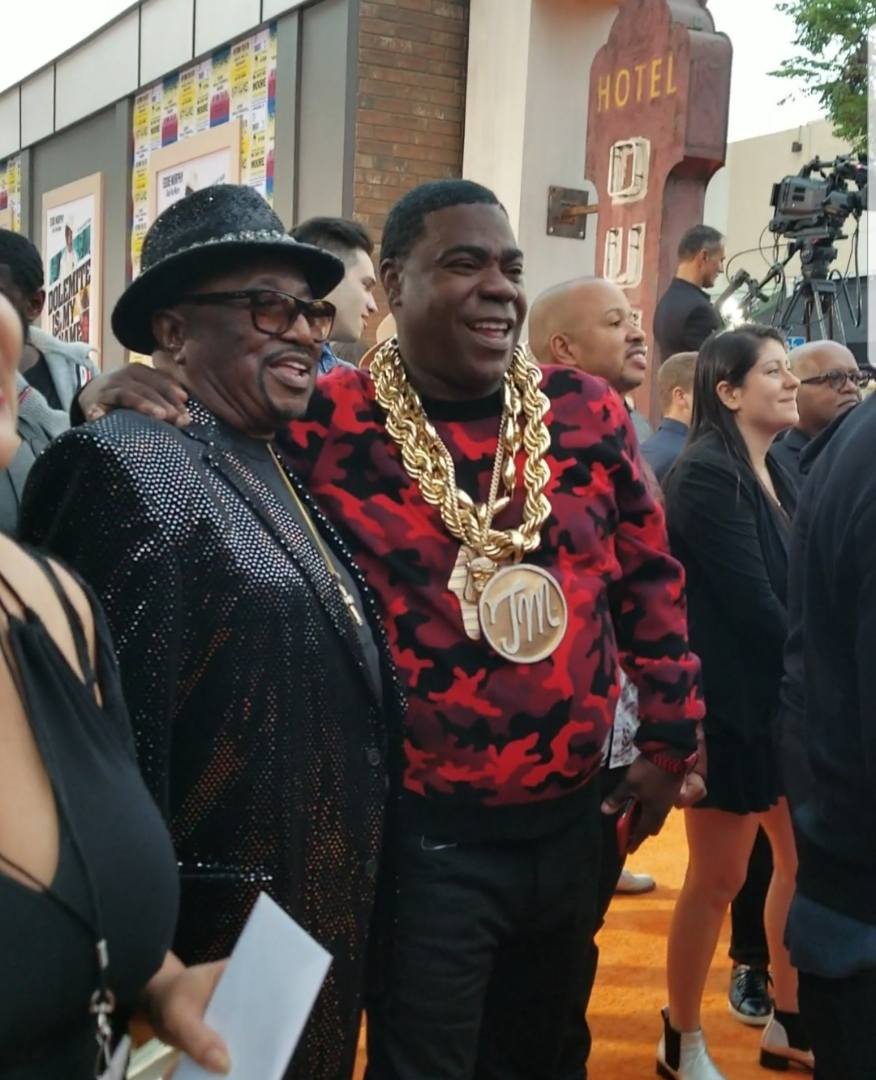 Ben Taylor and Tracy Morgan enjoying the live performance by the legendary O'Jays!