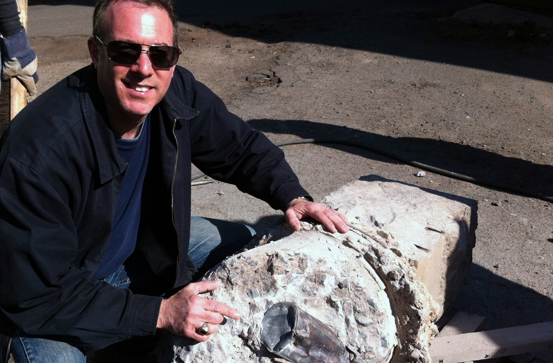 All in a day's work: Robert S. Greenberg unearths a time capsule in New Haven, CT.