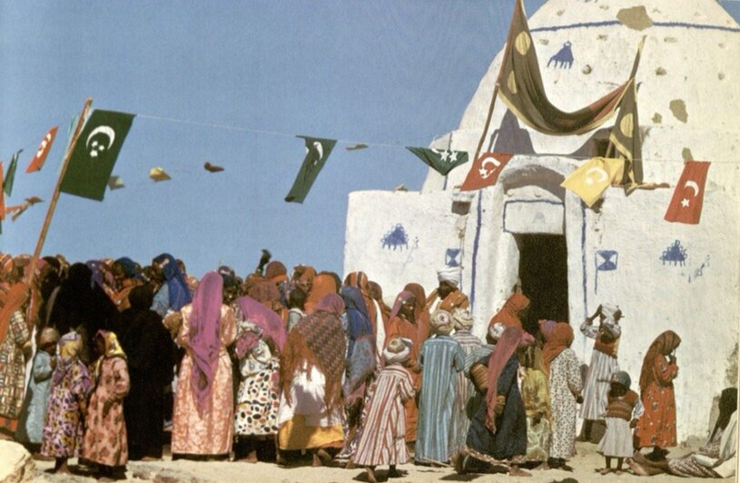 Nubian people celebrating Mawlid from Robert Fernea's  Nubians in Egypt: A Peaceful People
