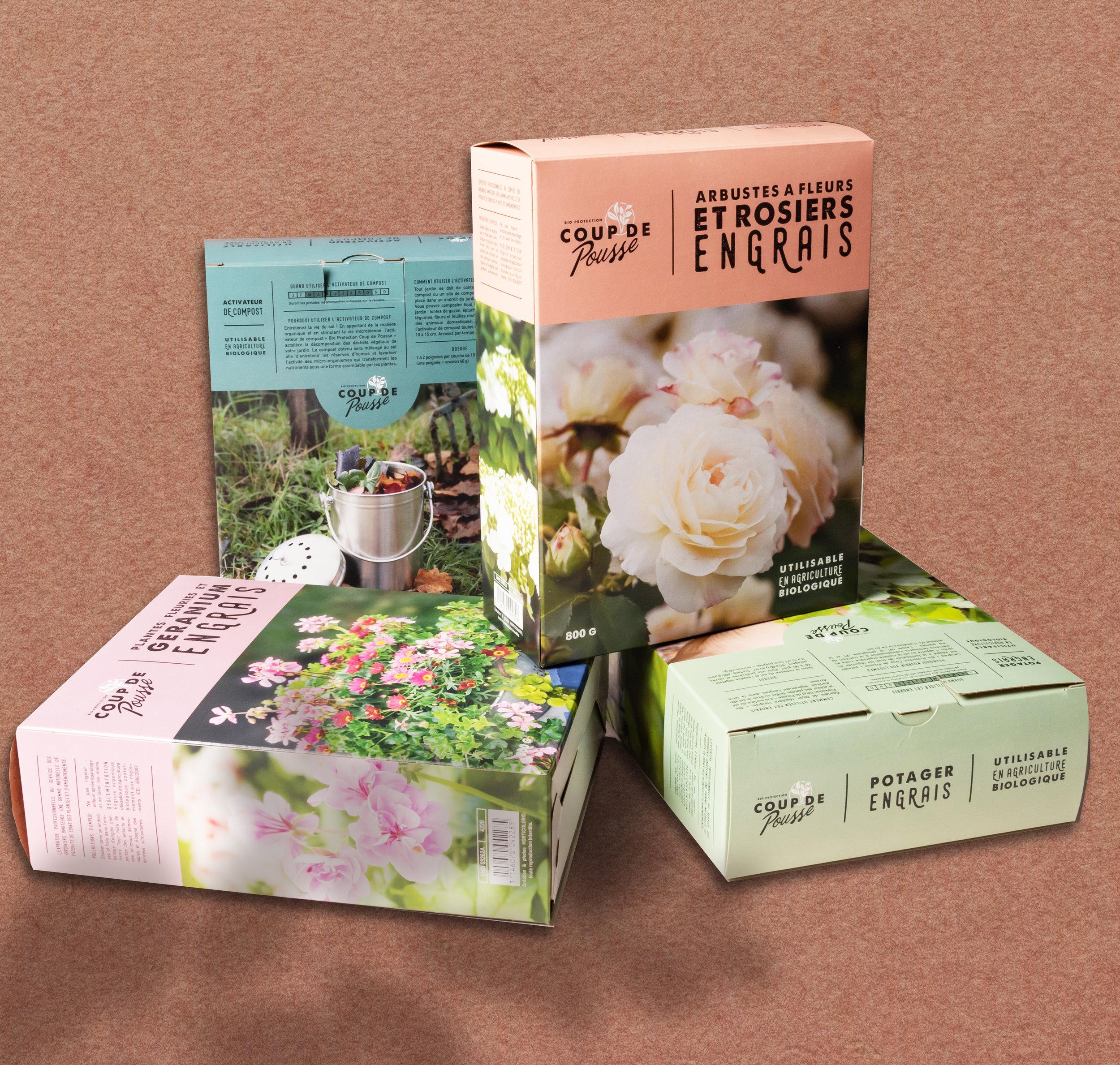 COUP DE POUSSE - création d'un nouvelle marque d'engrais Vendus en GSA, à destination des jardiniers amateurs.