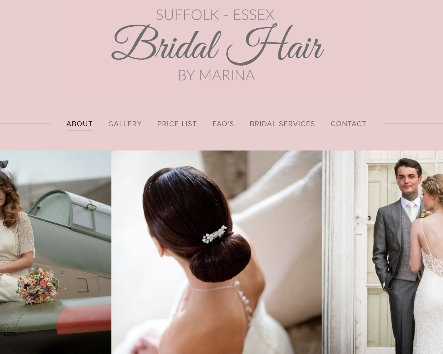 """Bridal Hair Essex - As featured on the cover of """"An Essex Wedding Magazine"""" Marina is a renowned wedding hair stylist based in the South East with over 25 years' experience in the industry specialising in occasion, wedding and fashion hair styling."""