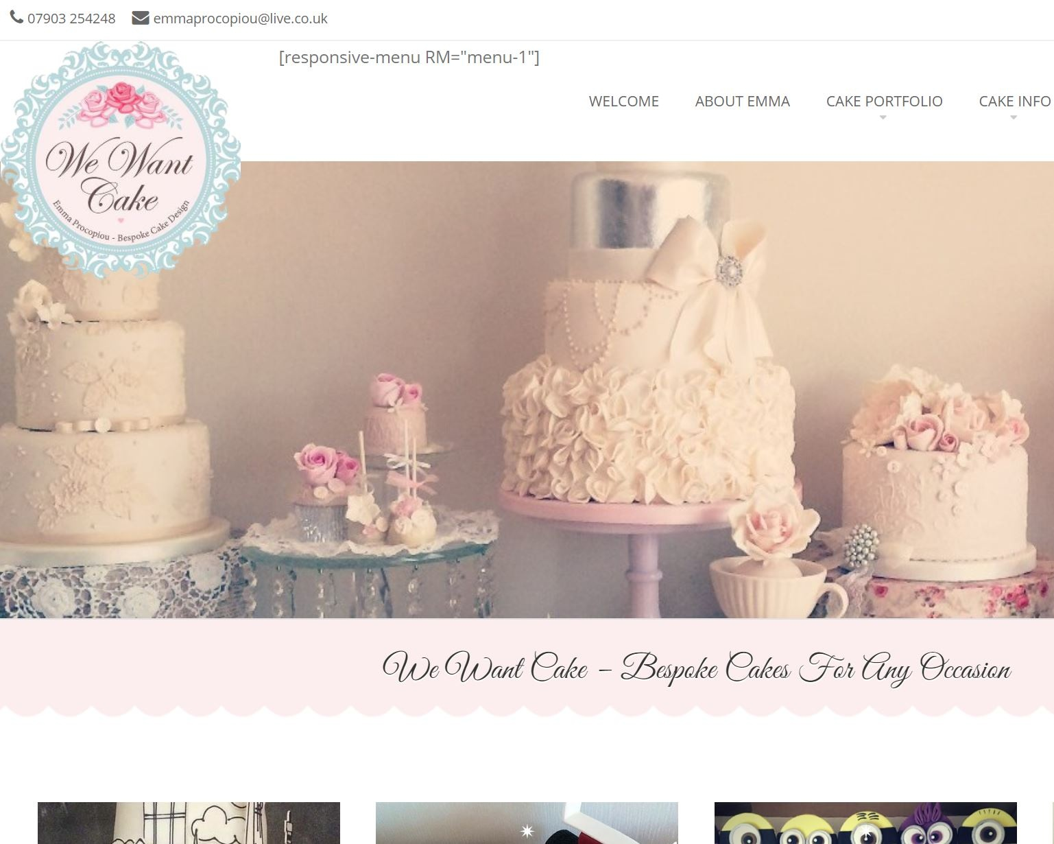 We Want Cake - Baking bespoke cake and cookie creations from our kitchen in Cheshunt, Hertfordshire. We Want Cake we create stylish and beautiful cakes, cupcakes and cookie favours of the highest quality for all occasions.
