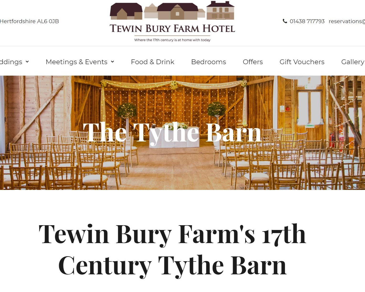 Tewin Bury Farm - Tewin Bury Farm Hotel, a 4 Star Hotel set in the beautiful Hertfordshire Countryside. Our uniquely converted Farm buildings that run alongside the River Mimram offer an exquisite fusion of old and new which will not disappoint.