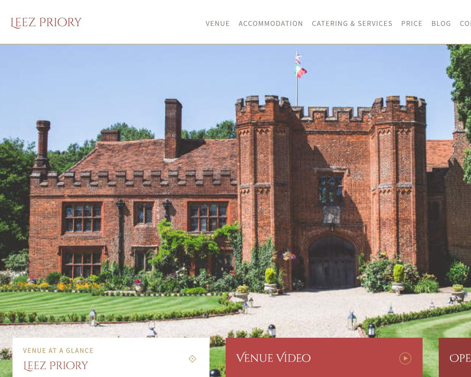 Leez Priory - A wedding at Leez Priory comes with over 25 years' experience. Nestled in the glorious Essex countryside, this Tudor manor house is exclusively yours and all just over an hour away from Central London.